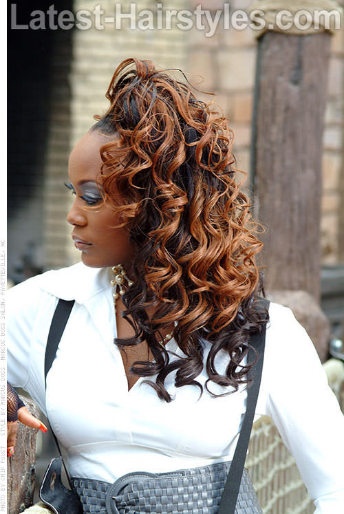 Chocolate Swirl Curly Ombre Weave