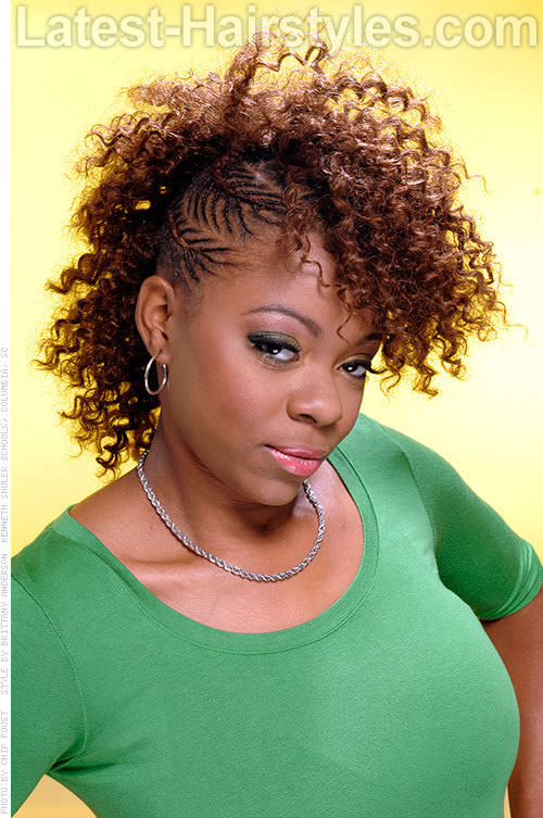 Crochet Braids Edmonton : French Braid Mohawk Hairstyles with Crochet Braids Side Mohawk With ...
