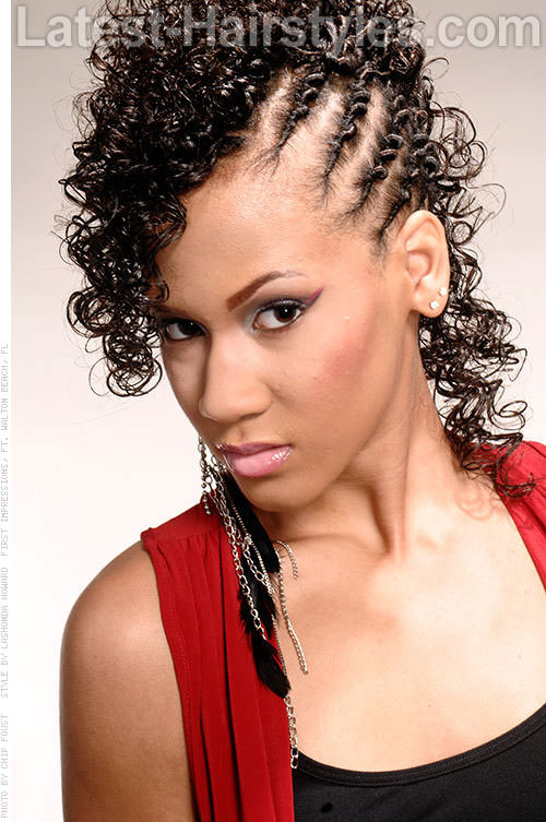 Curly Fauxhawk with Twists