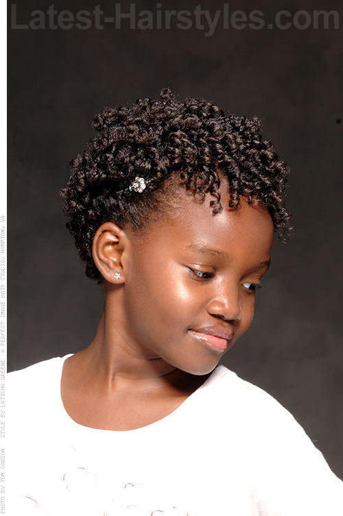 Tremendous 15 Stinkin39 Cute Black Kid Hairstyles You Can Do At Home Short Hairstyles Gunalazisus