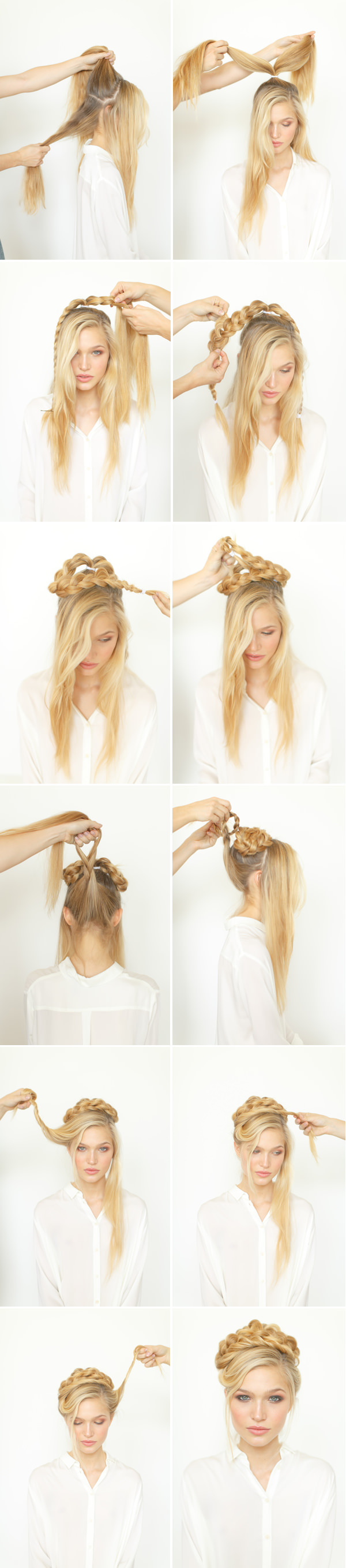 DIY Rope Braid WeddingUpdo