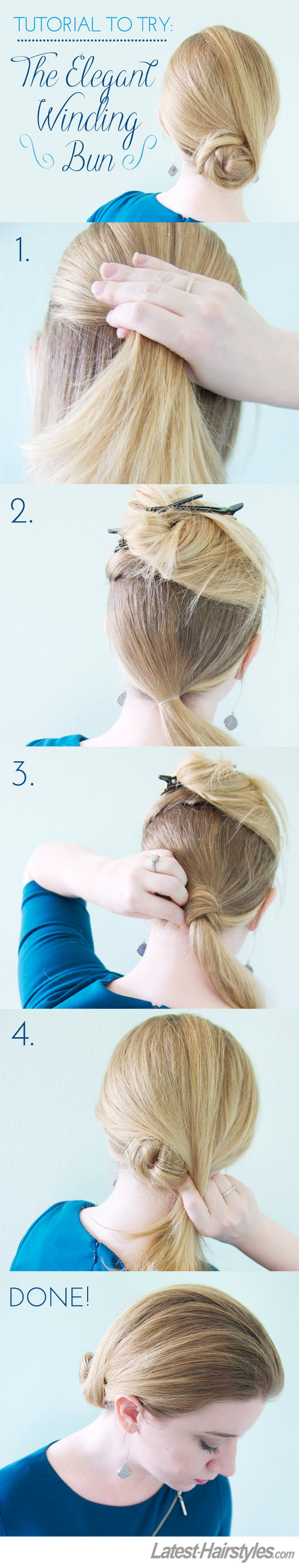 The Elegant Winding Bun Tutorial
