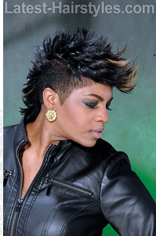 10 Sexy Amp Edgy Faux Hawk Ideas For Black Women