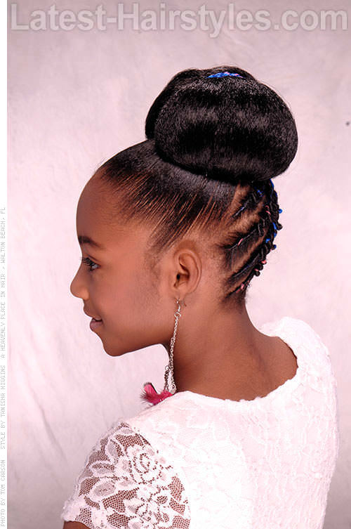 Pleasant 15 Stinkin39 Cute Black Kid Hairstyles You Can Do At Home Hairstyles For Women Draintrainus