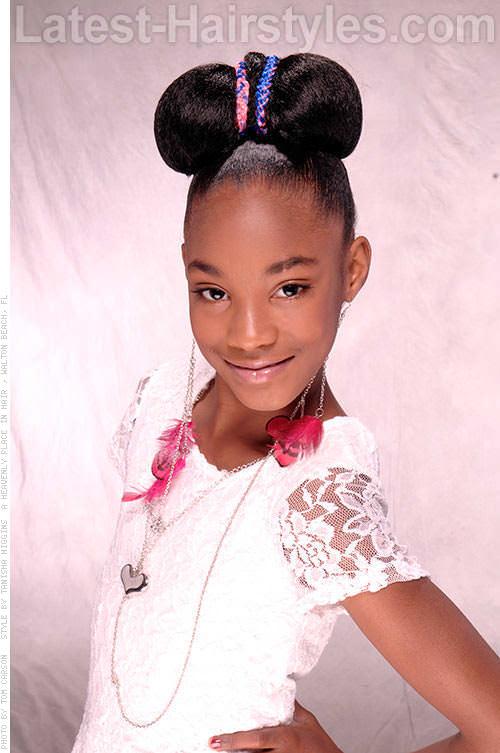 Brilliant 15 Stinkin39 Cute Black Kid Hairstyles You Can Do At Home Short Hairstyles Gunalazisus