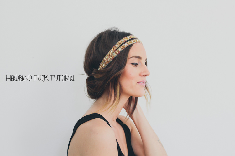 Headband Tucked Hairstyle