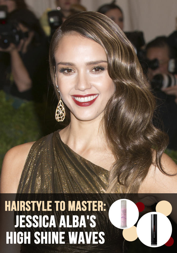 Jessica Alba Hair Tutorial - High Shine Waves