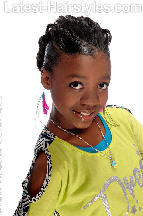 Black Kids Hairstyles with Inside Braids