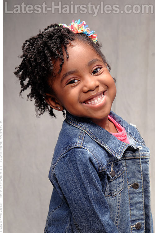 Black Kids Natural Hairstyle with Twists