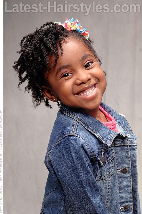 Terrific 15 Stinkin39 Cute Black Kid Hairstyles You Can Do At Home Short Hairstyles Gunalazisus