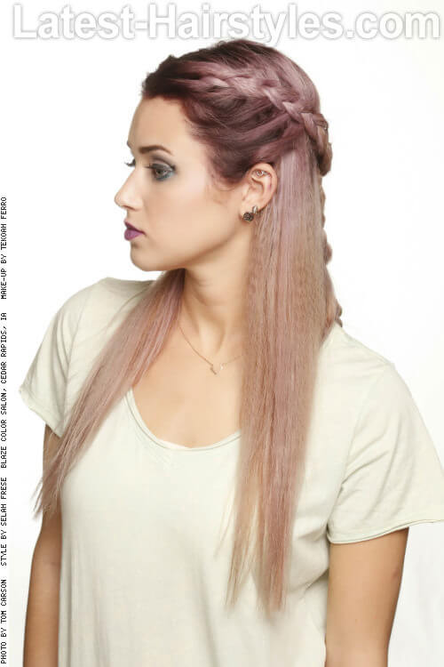 Long Straight Hairstyle with Braid