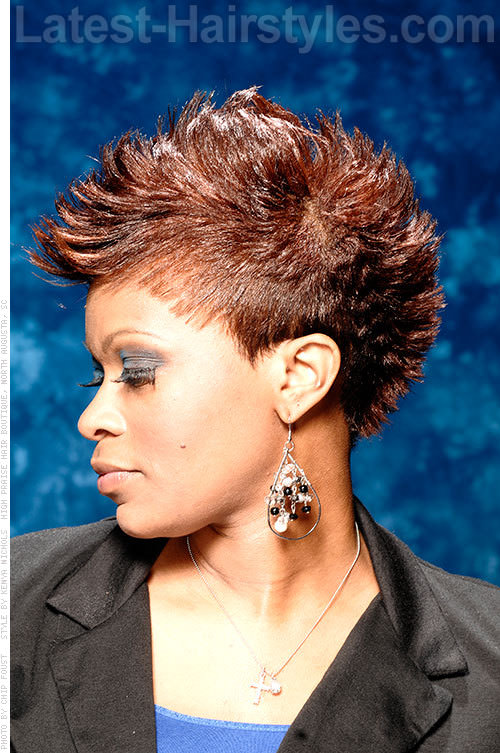 Mohawk Hairstyle with Tapered Sides
