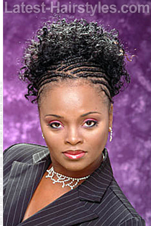 Patricia Passion Cornrow Curly Weave Ponytail