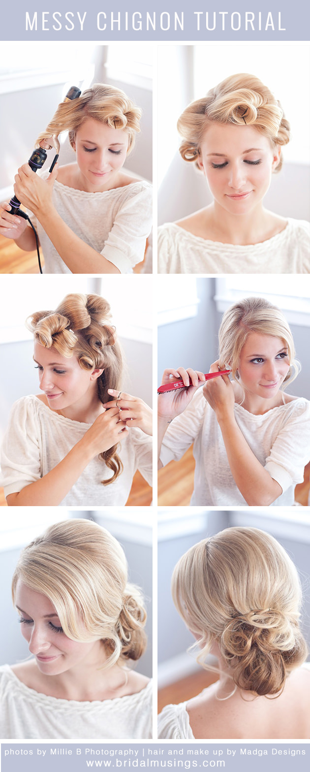 Romantic & Messy Chignon