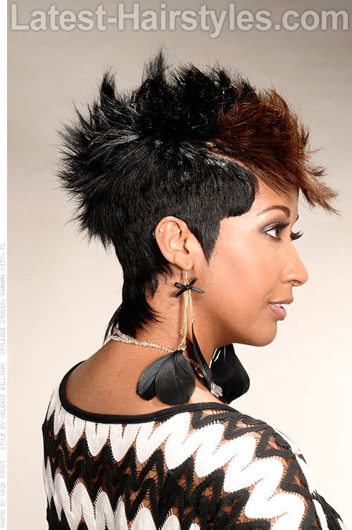 Spiked Mohawk with Sleek Sides Side View