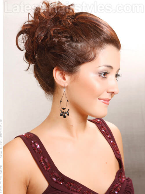 Stunning Updo with Curls Side