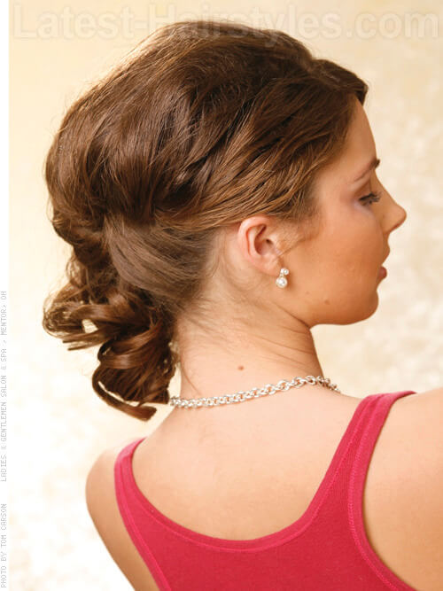 Timeless Updo with Curls Back