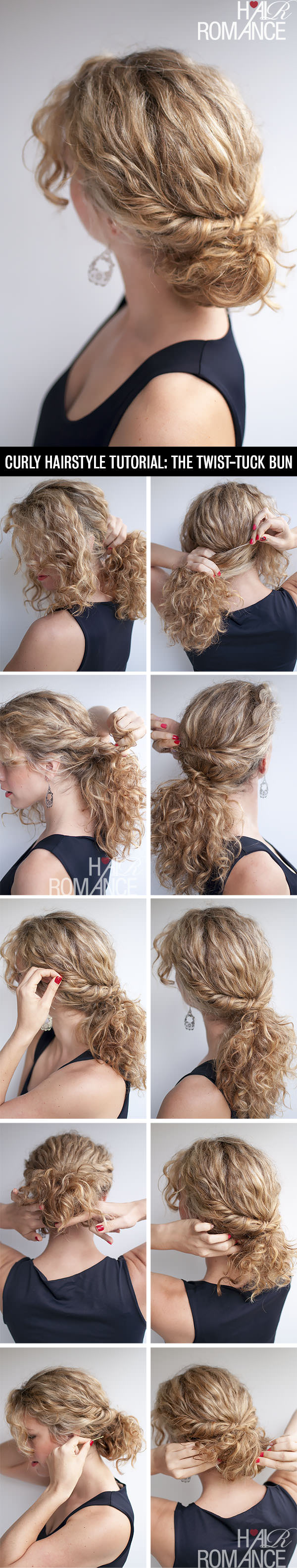 Twist Tuck Bun for Curly Hair