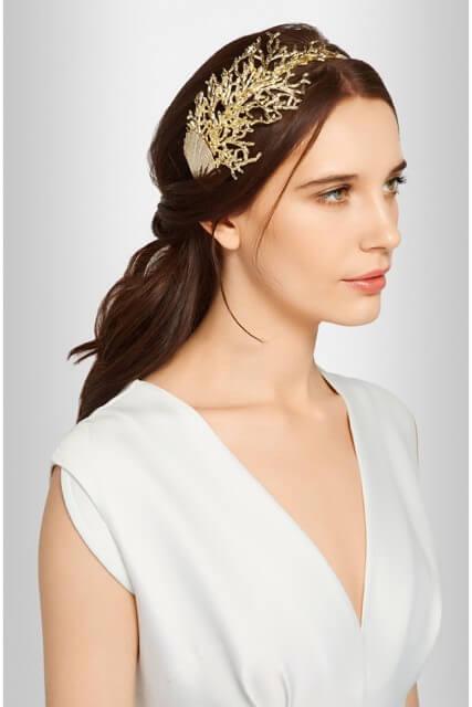 Summer Hair Accessories - Rosantica Coralli Gold-Tone Headband