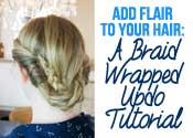 The Braid Wrapped Updo Tutorial