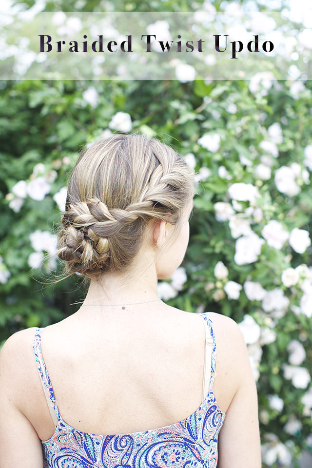 Pretty Braided Twist Updo