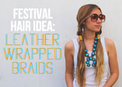 Festival Hair Tutorial: Leather Wrapped Braids