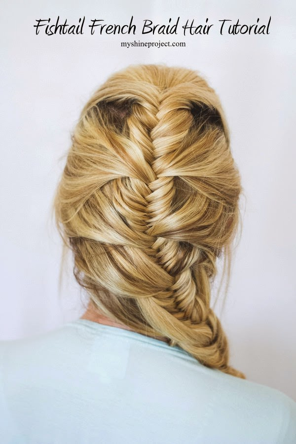 Pretty French Fishtail Hair Tutorial