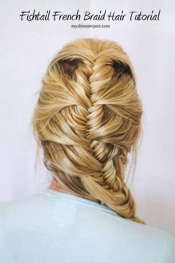 Pretty French Fishtail Hair Tutorial