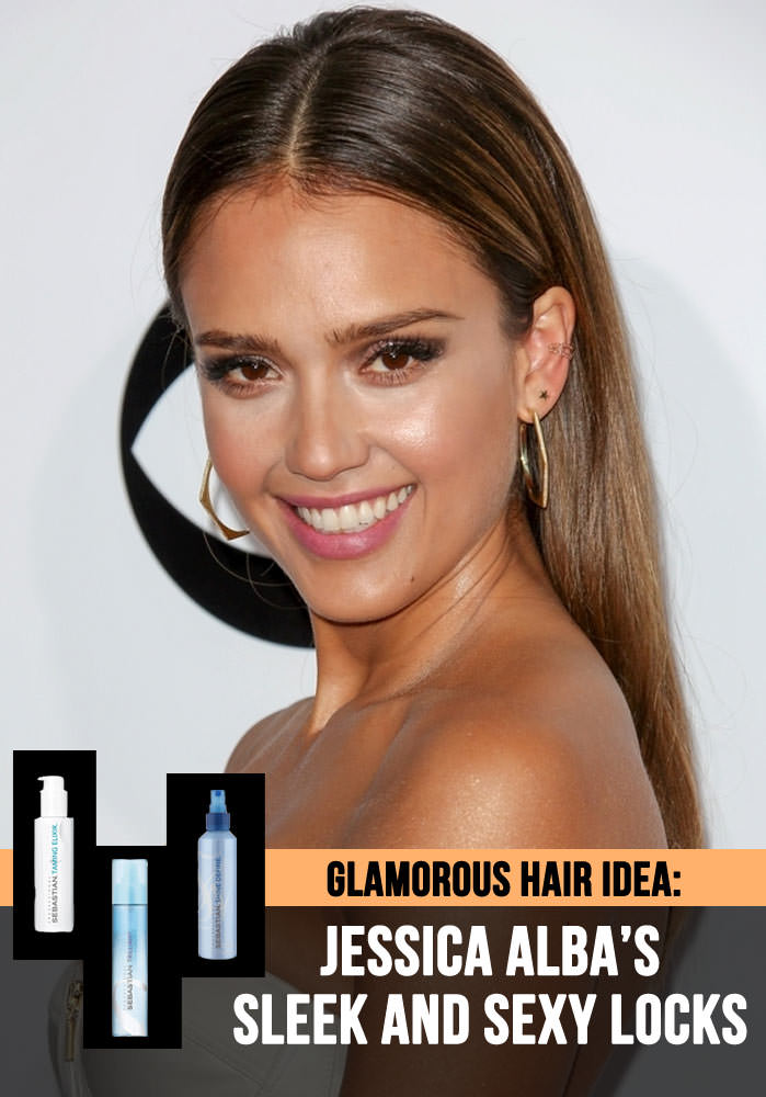 Jessica Alba Hair Tutorial: Sleek Hair