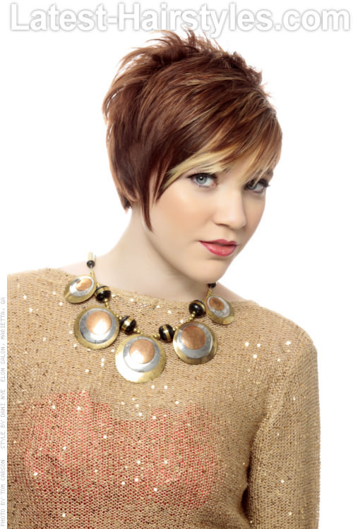 Short Choppy Hairstyle with Fringe