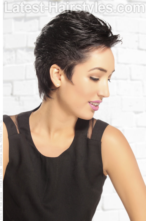 Short Haircut with Volume Side