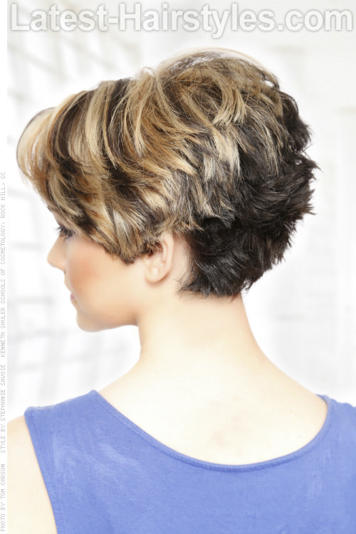 Short Hairstyle with Heavy Texture Back