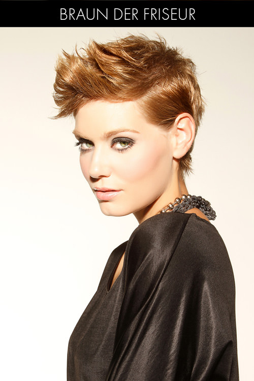Short Hairstyle with Tucked Sides