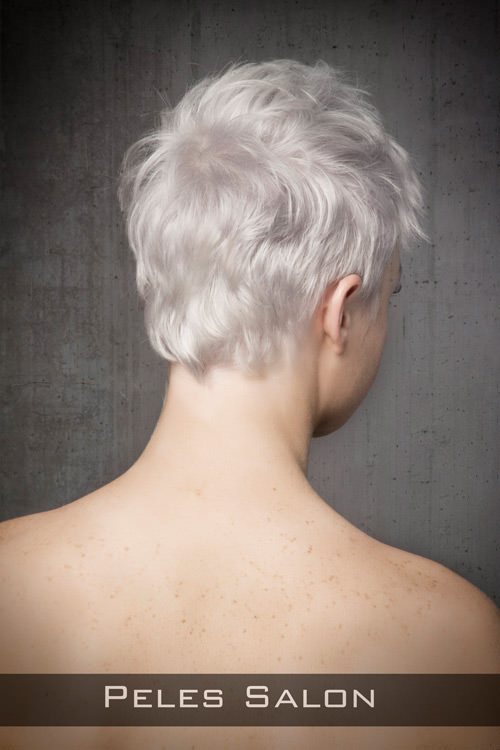 Short Pixie Hairstyle for Round Faces Back