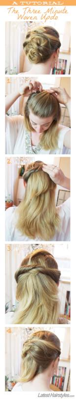 Woven Updo Hair Tutorial