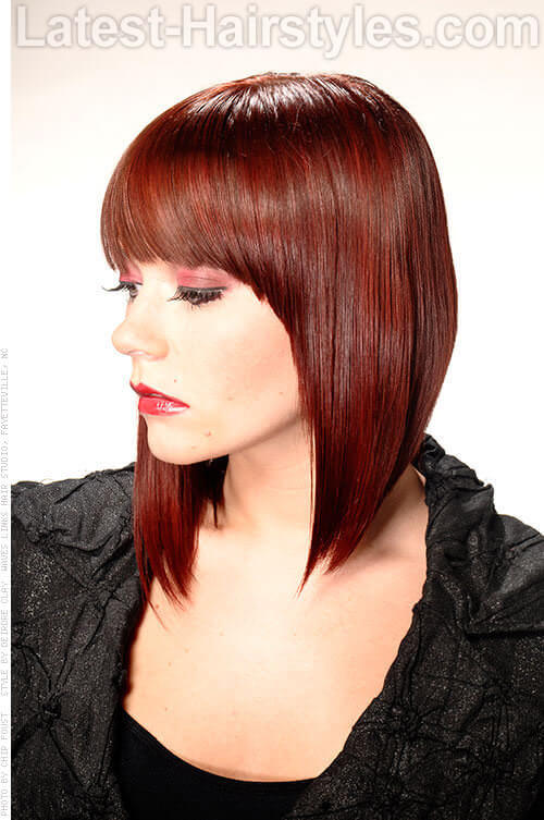 Angled Bob with Full Fringe Side