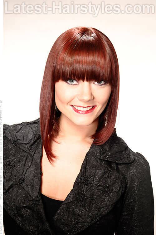 Angled Bob with Full Fringe