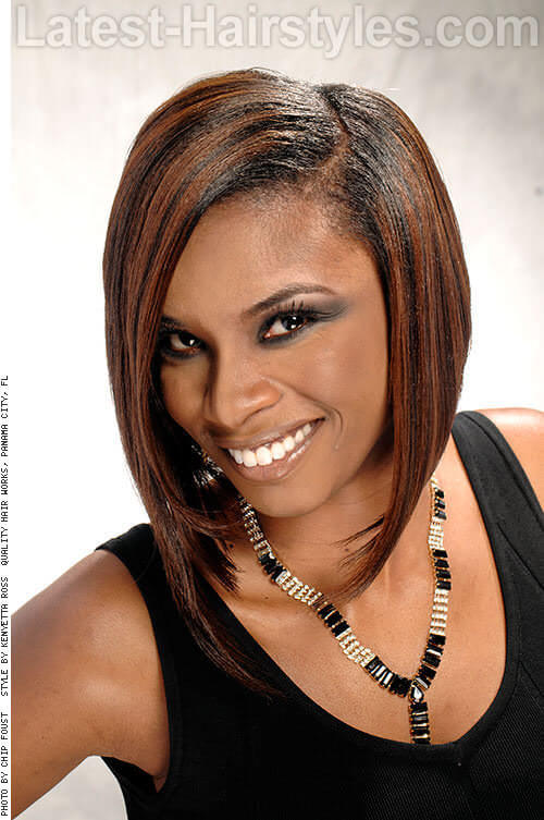 Highlight With Heather Angled Bob For Black Women
