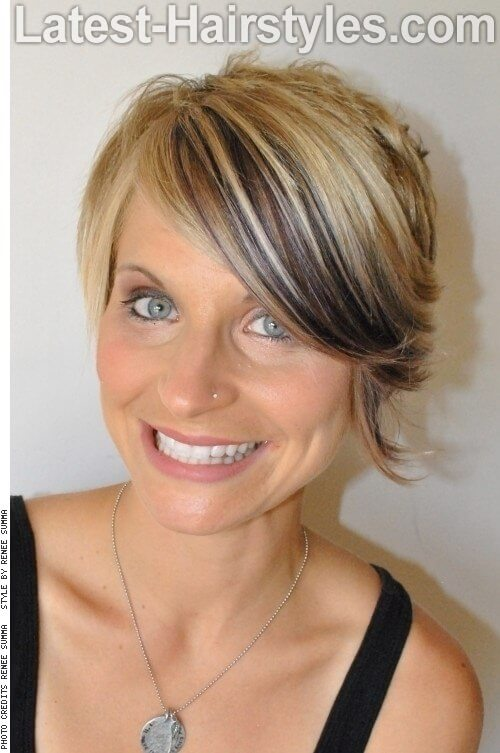 Asymmetric Women's Pixie with Fringe