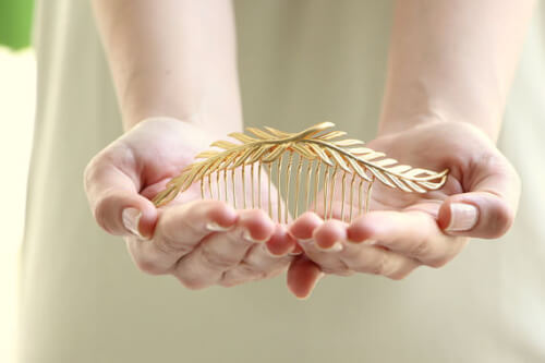 Ayajewellery Leaf Hair Comb