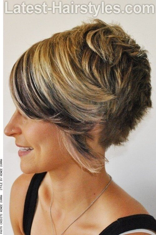 Blonde Hairstyle with Chocolate Brown Fringe Side