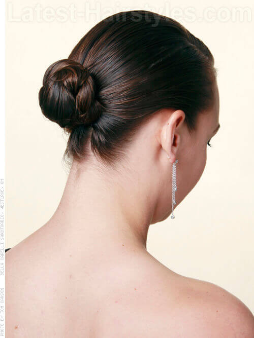 Classic Updo for Medium Fine Hair Back
