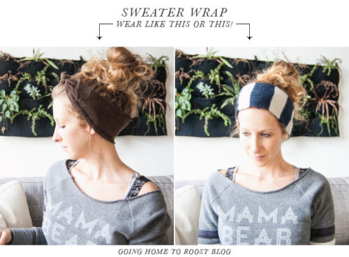 DIY Fall hairstyle Sweater Wrap