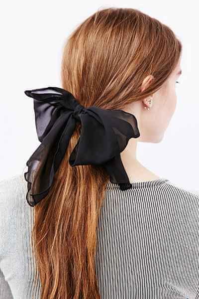 Drapey Chiffon Hair Bow