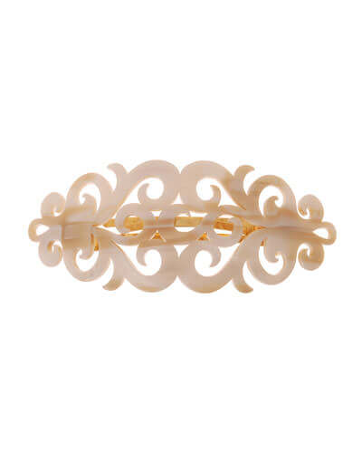 France Luxe Elysee Scroll Acetate Barrette