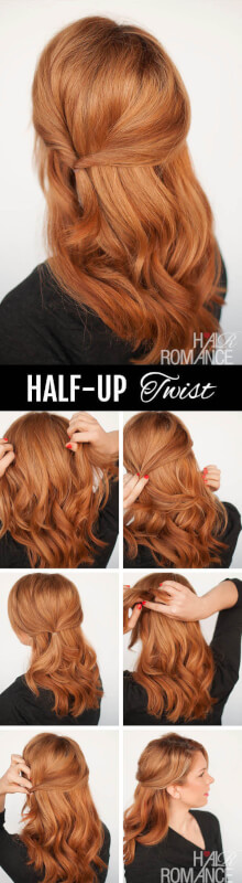 Half-Up Twist - Fall Hairstyles