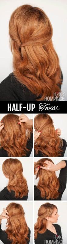 Half-Up Twist - Fall Hairstyles