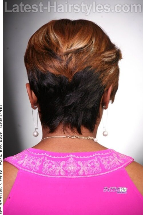 Short Choppy Pixie Hairstyle Back