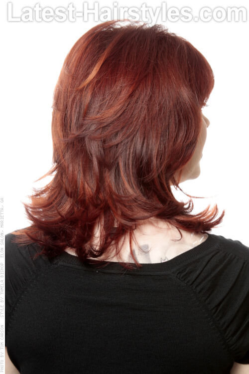 Shoulder Length Bob with Fringe Back