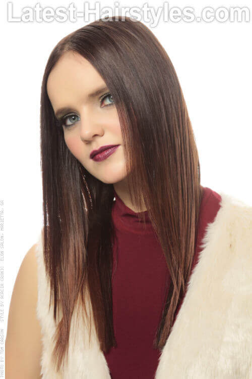 Sleek Straight Hairstyle For Fine Hair